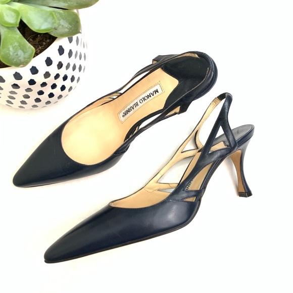 472f7f299975a Manolo Blahnik Shoes | Vintage Slingback Heels 413 | Poshmark